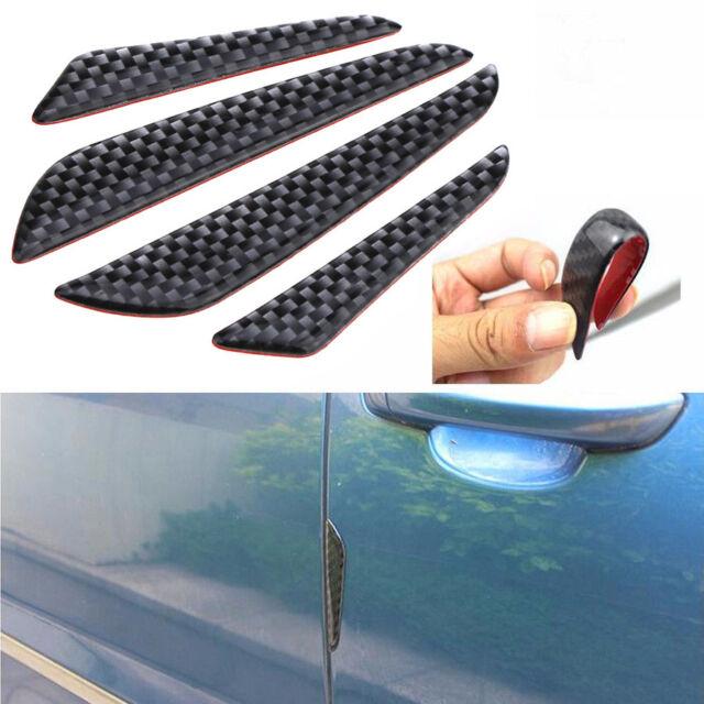 4x Car Door Edge Guard Strip Scratch Protector Anti-collision Trim Carbon Fiber
