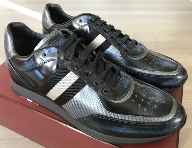 in stock bfbe3 b4aa1 700$ Bally Aston Blue Kiss Leather Sneakers size US 10 Made in Switzerland