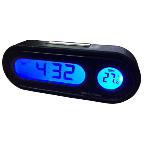 Anzeige Auto Uhr Plastik Hintergrundbeleuchtung Zusätze 1pc Thermometer