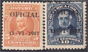 Costa Rica Sonnettes De Service 41/42 1917 Mauro Fernandez Braulio Renvoi MH