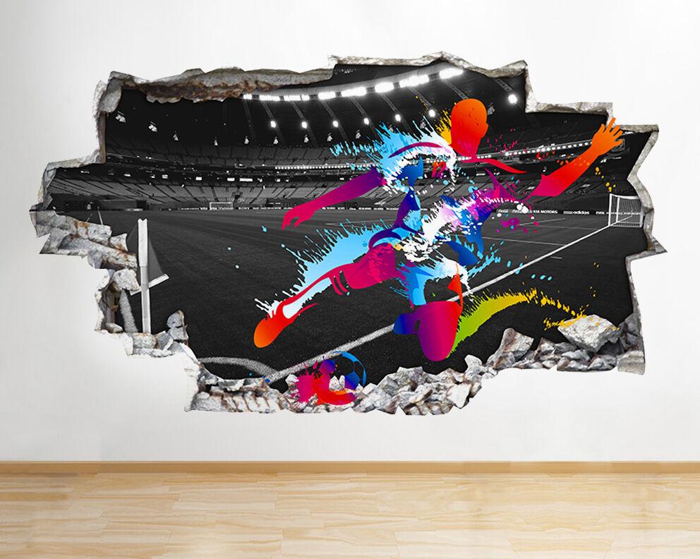 Q808 Football Color Splash Enfants Smashed Autocollant Chambre 3D Vinyle enfants