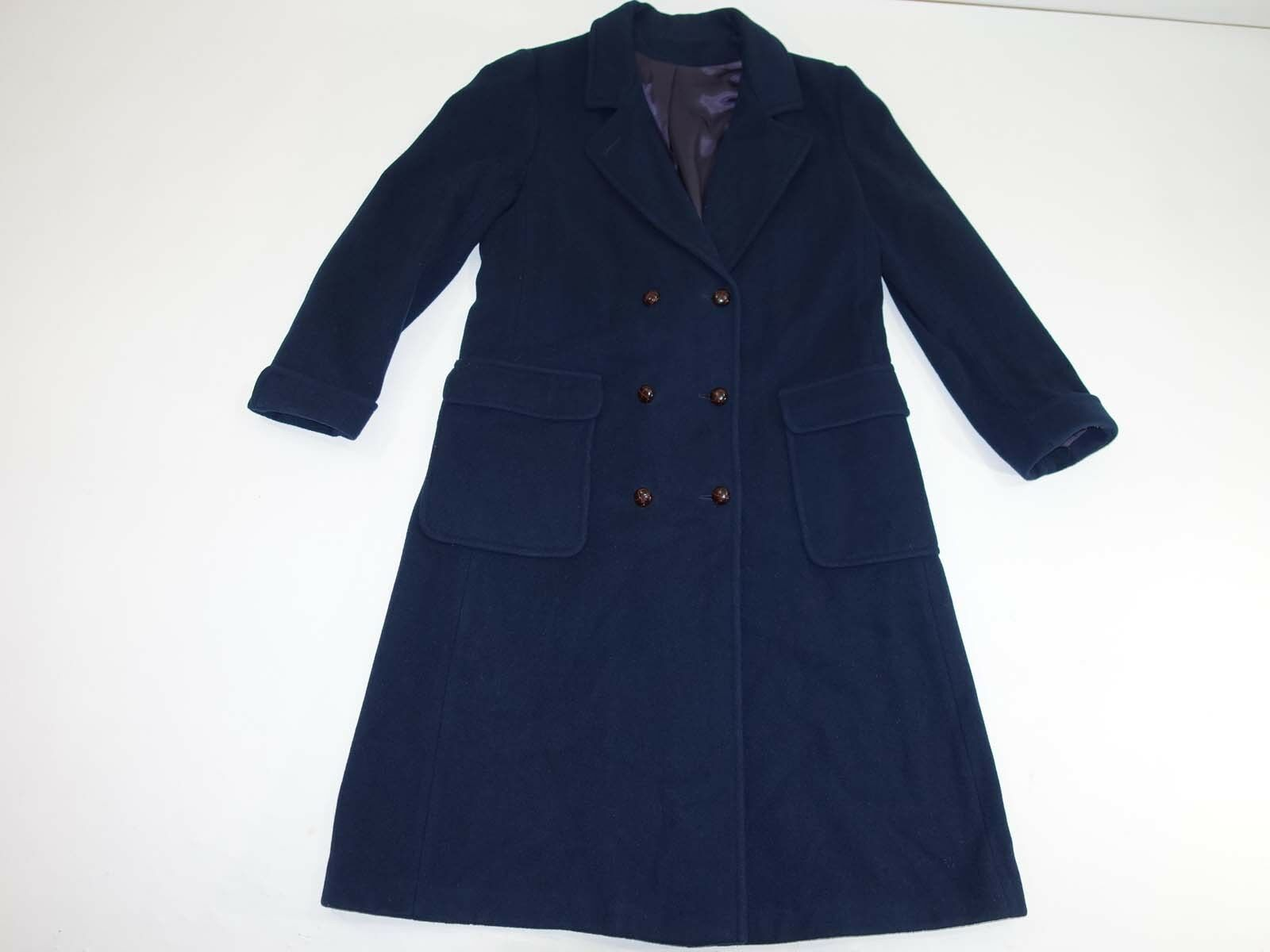 Forecaster of Boston Women's Double Breasted Over Coat Size 13   14 Navy bluee
