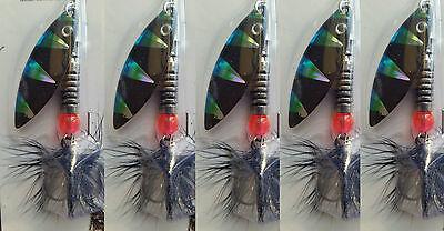 407038 Amazing bleu fred-x rainbow flyer tiger salomon pike blade spinner