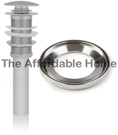 Inello Brushed Nickel Pop-up Drain Without Overflow for Vessel Sinks