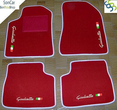 Decori......1 ALFA ROMEO GIULIETTA DAL 2010 Tappeti AUTO in velluto Tappetini