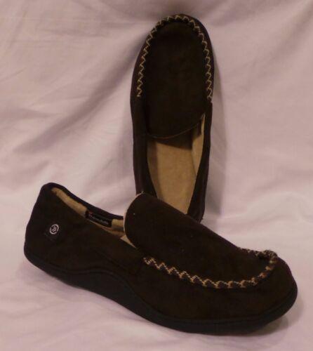 Isotoner Woodland Braid Mens Dark Brown 3M Thinsulate 40g Slippers RN22605 G40