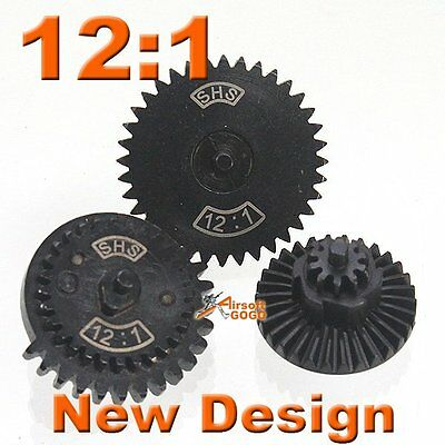 12:1 SHS New Design CNC Extreme High Speed Gear for Ver.2/ 3 Airsoft Gearbox AEG