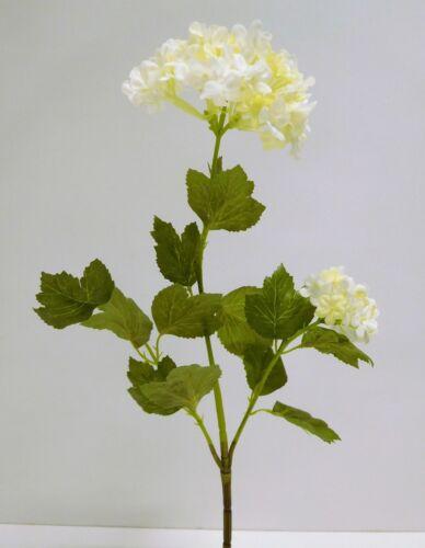 Schneeball Hortensie Seidenblume Kunstblume 48 cm creme weiß 52171-05 F64