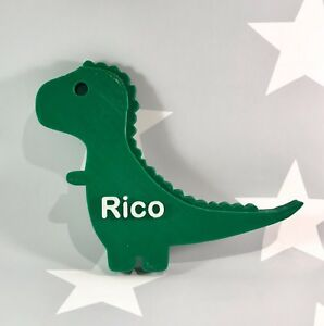 Image is loading Personalised-T-Rex-3D-Printed-Dinosaur-Door-Plaque- & Personalised T-Rex 3D Printed Dinosaur Door Plaque - Bedroom ...