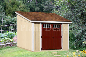 Details About 10 X 10 Deluxe Shed Diy Plans Lean To D1010l Material List Instructions