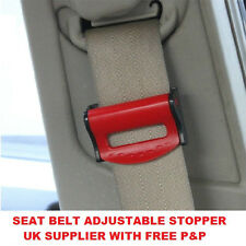 PACK OF 2 CAR SEAT BELT COMFORT STRAP ADJUSTERS/SUPPORTS/CLIPS SAFETY AID-RED
