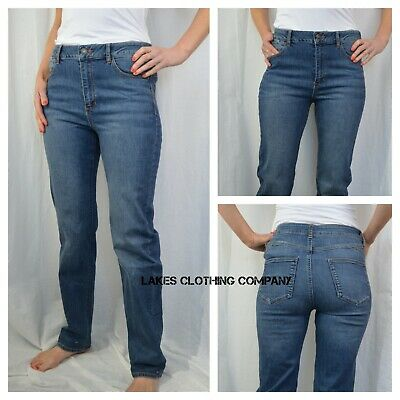 Ex M/&S Roma Mid Rise Ladies Women/'s Lift Stretchy Denim Jeans Pants Size 6-24 UK
