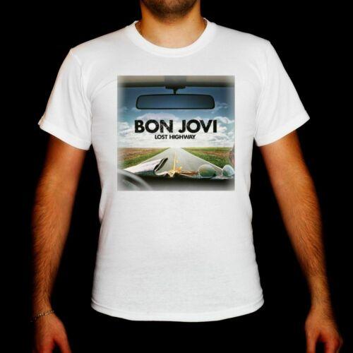 bon jovi Lost Highway MEN t-shirt BON JOVI BAND MUSIC boy men clothing unisex