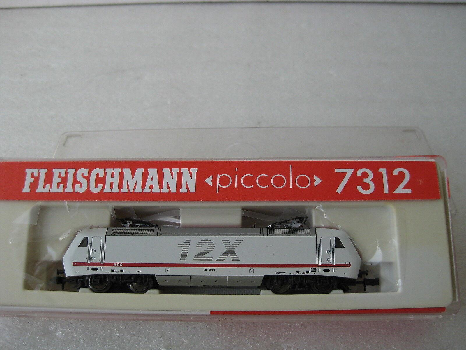 FLEISCHMANN piccolo N 7312 E-lok BR 128 001-5 12X AEG  NEU