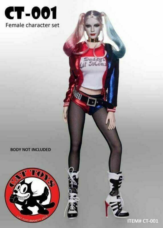 Juguetes Para Gato CT-001 1 6 Harley Quinn ropa trajes suicidio Squad con cabeza F 12  figura