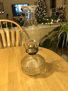 Vintage-Kaadan-Ltd-Oil-Kerosene-Lamp-Geometric-Clear-Glass-Design-with-Wick