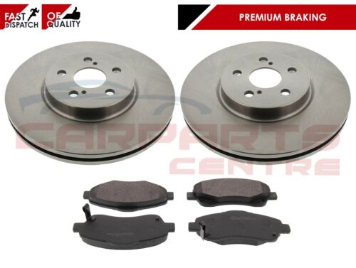 FOR TOYOTA AVENSIS 2.0 D4D CDT250 03-09 FRONT BRAKE DISCS AND PADS OE QUALITY