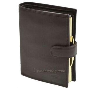 Portefeuille femme en cuir KATANA - marron - KAT-553010-MARRON