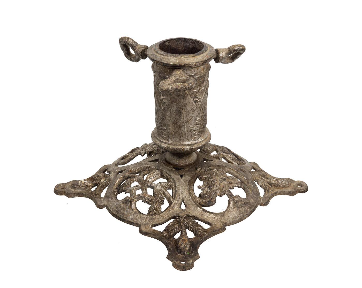 Drehbarer alter Tannenbaum-Ständer, Christbaumständer aus Metall, ca. um 1900   | Ermäßigung  | Gemäßigten Kosten