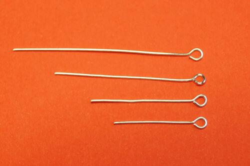 50 MM 200 x EYE PINS SILVER COLOR 24MM
