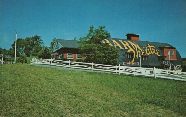 Vintage Michigan MI Postcard Barn Theater Augusta M - 96 ...