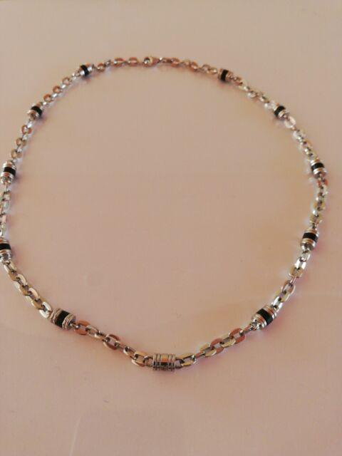Collana Morellato per Uomo acciaio e diamante- color Argento/Nero