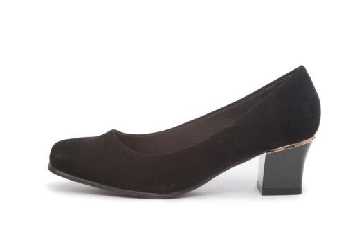 Comfort plus femme wide fit smart bloc talon cour chaussures 3 4 5 6 7 8