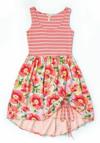 Matilda Jane Happy and Free Macaron Dress Floral Stripe Size M Medium Womens NWT