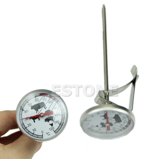 Hot Stainless Steel Instant Read Probe Thermometer BBQ Food Cooking Meat Gauge