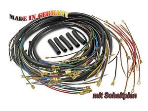 MZ-MUZ-faisceau-cables-TS250-de-luxe-avec-schema-Moto-Cable-equipe-Top-Neuf