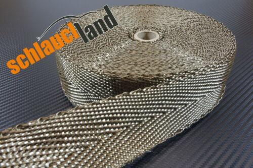 20m Basalt Hitzeschutzband 50mm 1400°C *** Gewebeband Krümmer Schutz Hitze Rohr