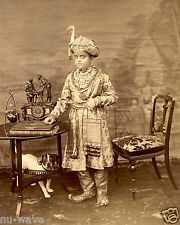 1895-Krishnaraja Wadiyar IV Adolescent Maharajah of the princely state of Mysore