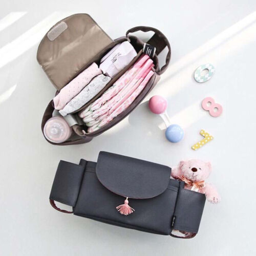 Universal Baby Trolley Storage Bag Stroller Cup Carriage Pram Buggy Organizer-AY