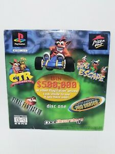 NEW-Sony-Playstation-Pizza-Hut-Demo-Disc-Final-Fantasy-8-Ape-Escape-CTR