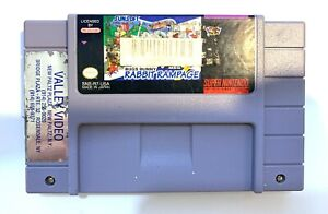 Bugs Bunny Rabbit Rampage - SNES Super Nintendo Game - Tested - Working