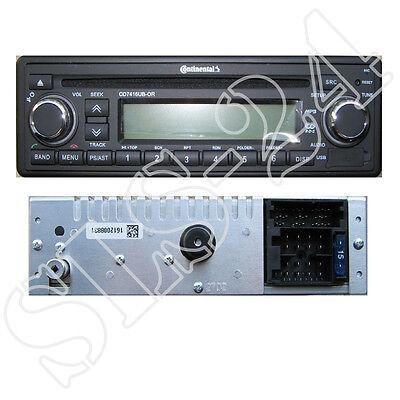 USB AUX-IN Autoradio inkl.Antenne Continental CDD7418UB-OR CD MP3 Bluetooth DAB