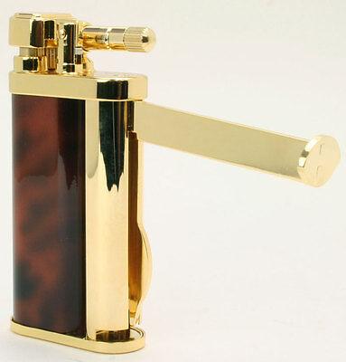 Tsubota Pearl EDDIE Brass & Brown Marble Pipe Lighter w/Tools Seki Japan Old Boy