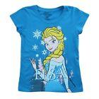 Enfants Officiel Reine Des Neiges Elsa T Shirt Bleu Neuf Enfants Filles