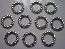 16 pcs antique Tibetan silver Linking Rings connectors round 19x2mm