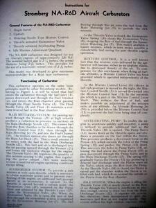 Details about Stromberg NA-R6D Carburetor Service Parts Manual