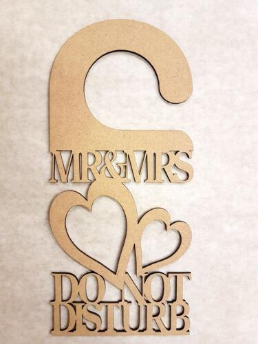 300 mm x 140 mm x 3 mm MARIAGE-Mr /& Mme Do Not Disturb Porte Cintre