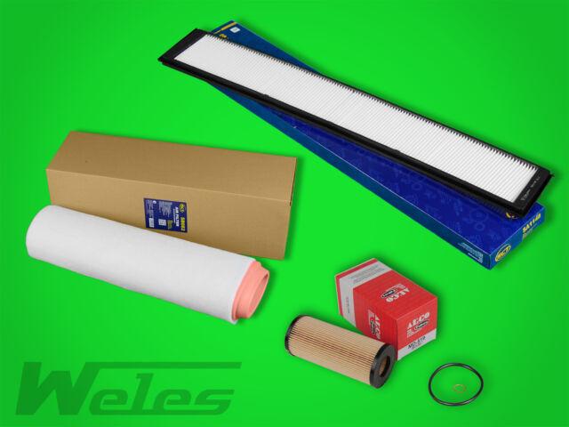 Diesel Filtre Filtre à huile Filtre à air pollen filtre BMW 3er e46 330d 204ps 150kw