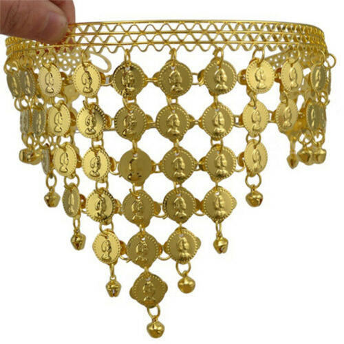 Women Belly Dance Accessories Costume Dancing Coin Sequins Hair Band Headband S/&