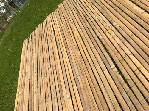 Best Artificial Bamboo Slat Fencing Screening Rolls 4M Garden Outdoor Privacy