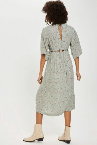 Topshop Ditsy Lattice Smock Dress Size 6 8 10 12 14 16 RRP £49