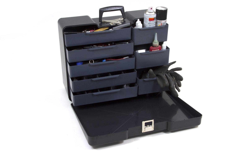 VALIGETTA attrezzi polybutler nero, grande-y0846-Toolbox polybutler