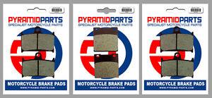 Front & Rear Brake Pads (3 Pairs) for Suzuki GSF 1200 Bandit 95-96
