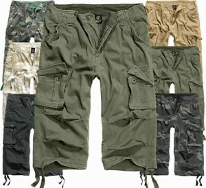 Brandit-Men-039-s-Bermuda-Cargo-Shorts-Knee-Length-Shorts-Long-3-4-Shorts-Summer