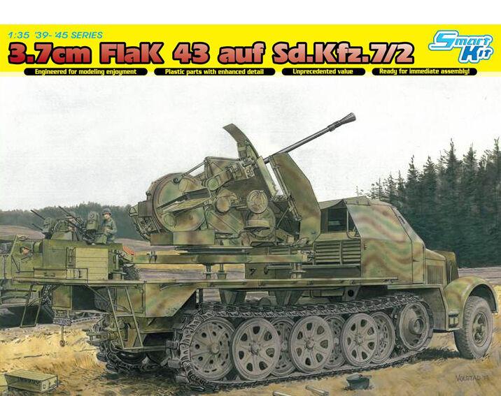 Dragon 1  3 5 6553  cañón antiaéreo 43 3.7 cm A Sd.Kfz. 7 2