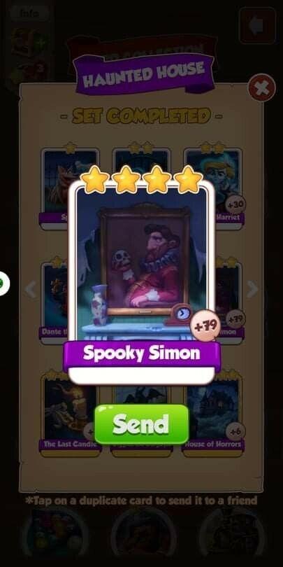 Coin Master Card Spooky Simon